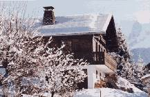 Chalet in winter